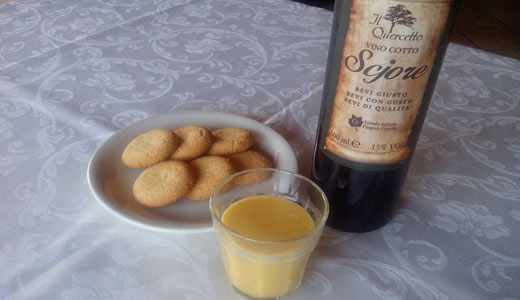 crema allo zabeglione e vino cotto