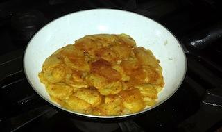 Cottura frittata di patate
