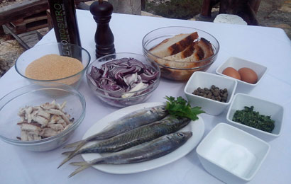 ingredienti ricetta polpette di lanzardo